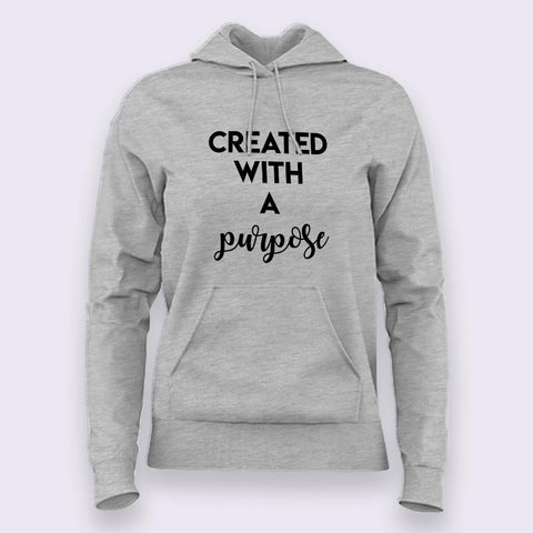 Created with a Purpose Religious Hoodies For Women Online India