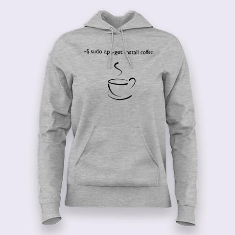 sudo apt-get install coffee - Hoodies For Women Online India