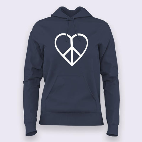 Love and Peace Hoodies For Women Online India