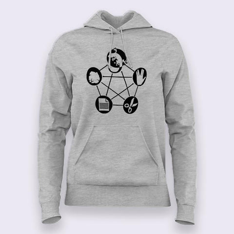 Rock Paper Scissor Lizards Spock Hoodies For Women Online India