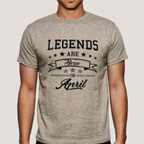 Legends are born in April Men's T-shirt online