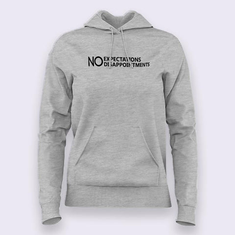 Expect Nothing  Hoodies For Women Online India