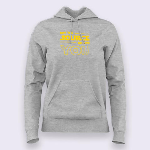 May The Source Be With You! Linux/Starwars Hoodies For Women Online India