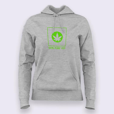 100% Pure Veg - Hoodies For Women Online India