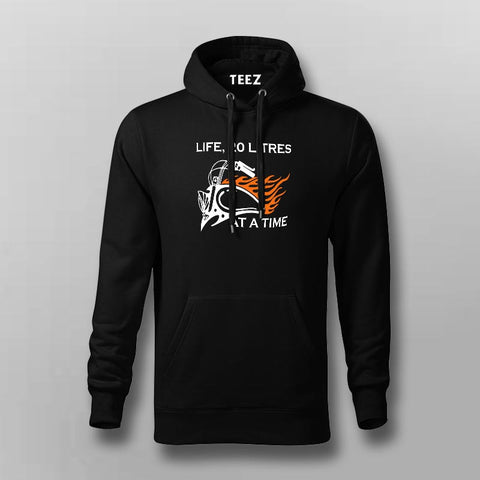 20 Litres At A Time Men's Biker Life Hoodies Online India