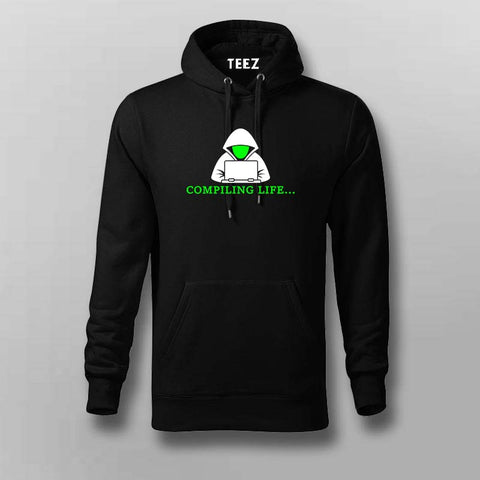 Programmer Compiling Life Hoodies For Men