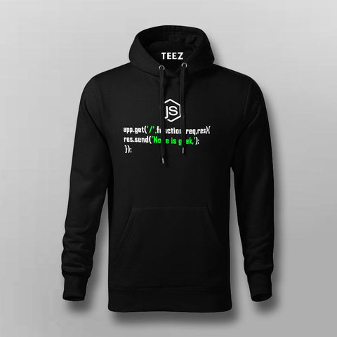 Node is geek  Hoodies For Men Online
