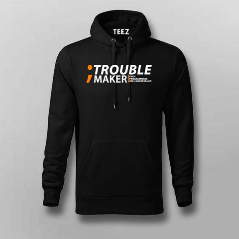 Programmer-semicolon. trouble maker. Only programmers will understand  Hoodies For Men