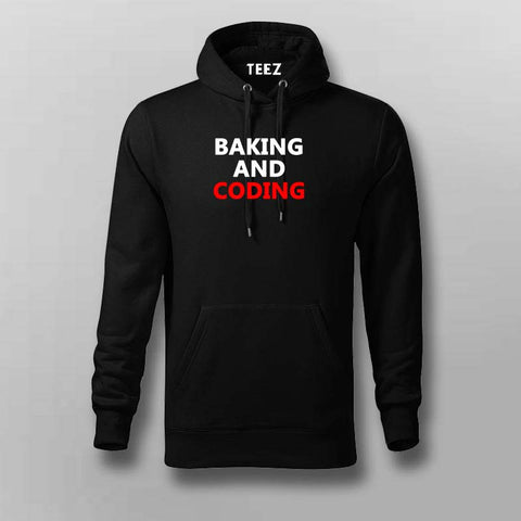Baking and coding Hoodies For Men