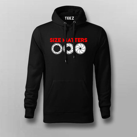 Lens Size Matters Hoodies For Men Online India