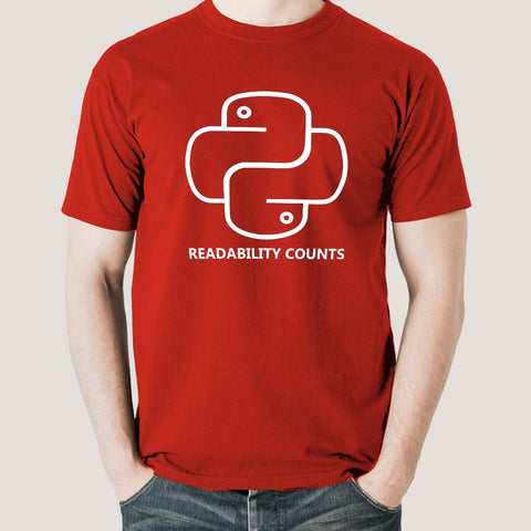 Python - Readability Counts Men's Programming T-shirt