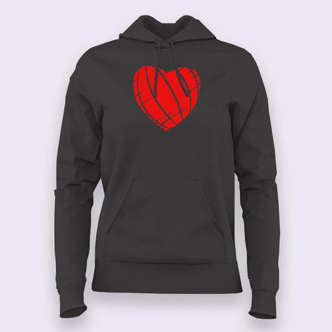 Ripped Heart Hoodies For Women Online India