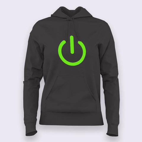 Power Button Hoodies For Women Online India