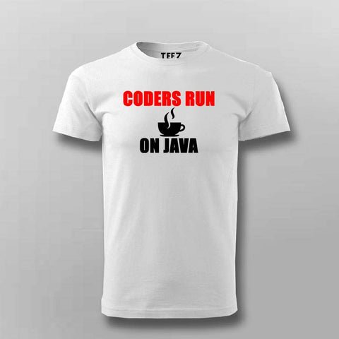Coders Run On Java T-Shirt For Men