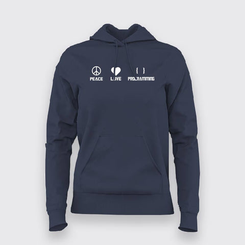 Peace Love Programming Hoodies For Women Online India