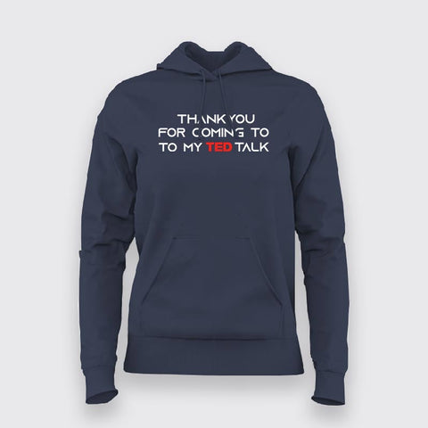 Ted Talk Hoodies For Women Online India
