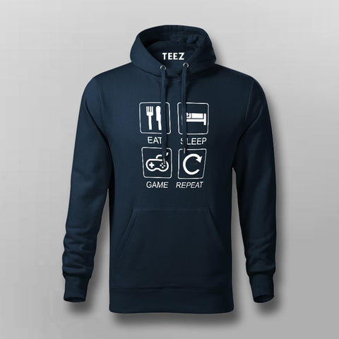 Eat Sleep Game  Hoodies For Men online India