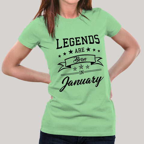 Legends are born in January Women's T-shirt