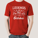 Legends are born in October Men's T-shirt