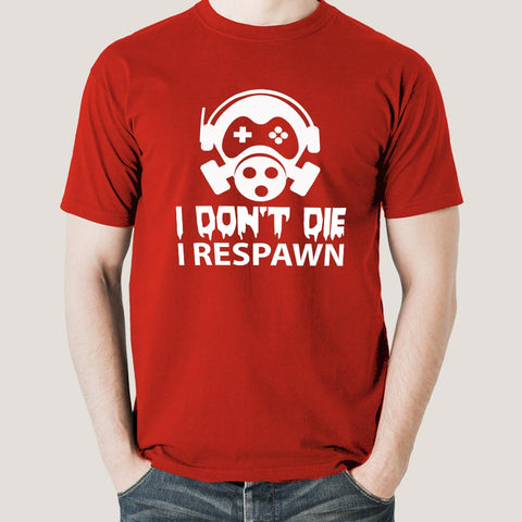 Buy Gamers Don't Die They Respawn Men's Gaming T-shirt At Just Rs 349 On Sale! Online India