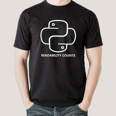 Python - Readability Counts Funny Programming T-Shirt For Men