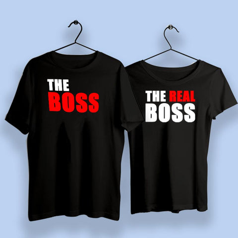 Boss And The Real Boss Couple T-Shirts Online