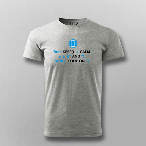 Keep Calm Shirt for IOS Swift Developers T-Shirt For Men Online