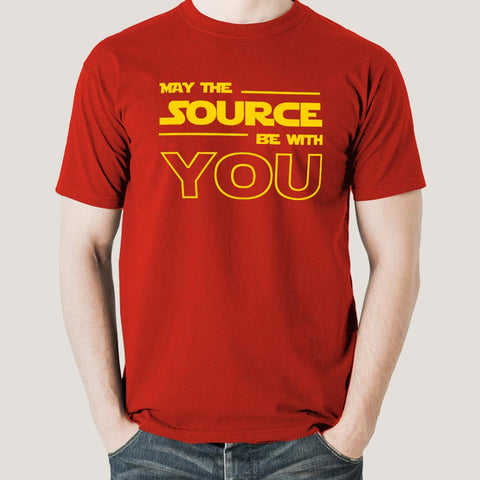 May The Source Be With You! Linux/Starwars Men's T-shirt