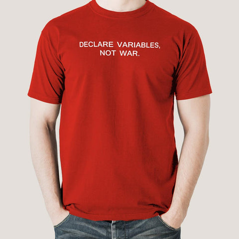 Declare Variables, Not War Men's Math T-shirt