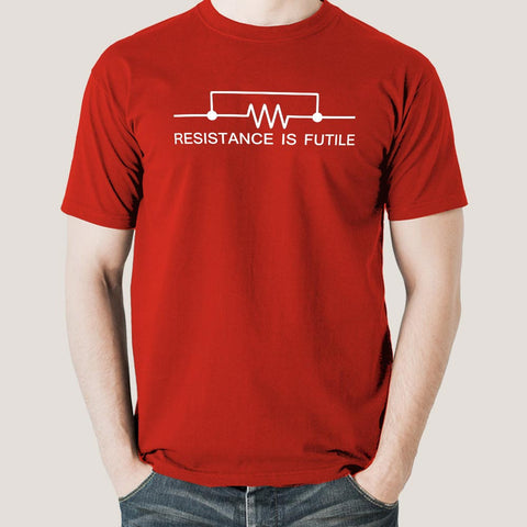 Resistance Is Futile. Funny Science T-shirt For Men