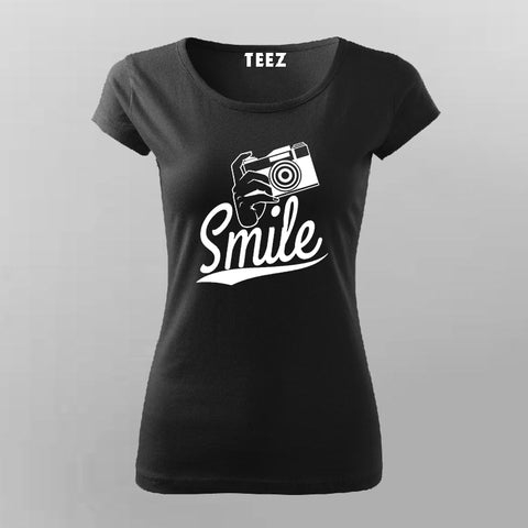 Smile Camera T-Shirt For Women Online India