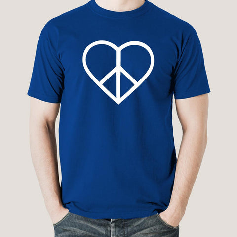 Love peace symbol t-shirt india