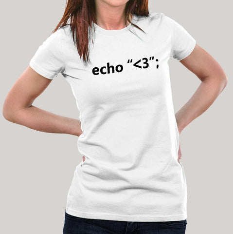 echo love Women's PHP t-shirt