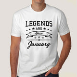Legends are born in January Men's T-shirt