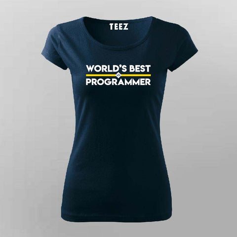 Worlds Best Programmer t-shirt women competitive