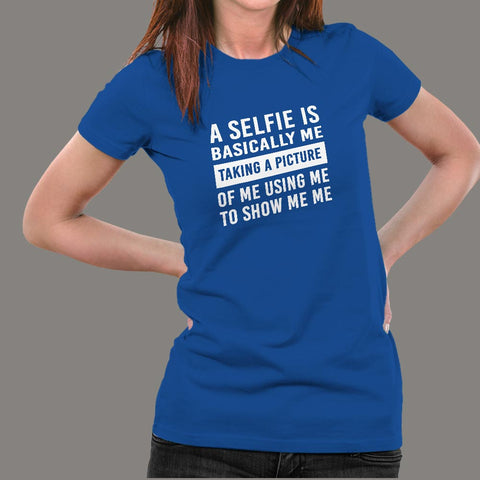 Swami Nithyananda Funny Selfie Definition T-Shirt For Women Online India