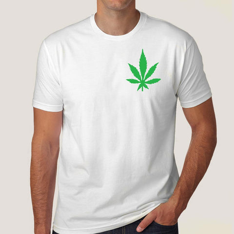 Addicted to Weed Chest Logo Men's Pot T-shirt