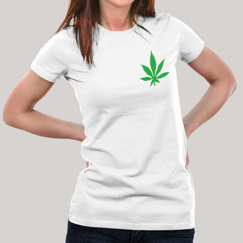 Addicted to Weed Chest Logo Women's T-shirt