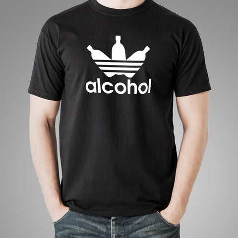 Adidas Parody Funny Alcohol T-Shirt For Men Online India