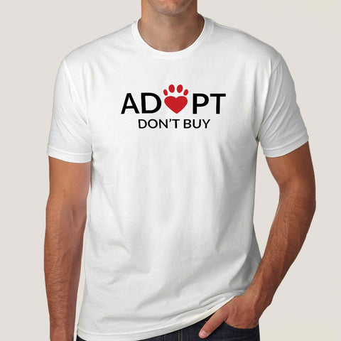 Adopt Love, Don't Buy Men's T-shirt