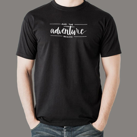 And The Adventure Begins T-shirt For Men