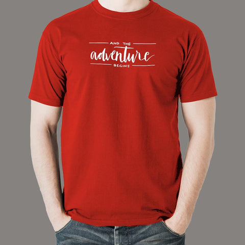 And The Adventure Begins T-shirt For Men Online India
