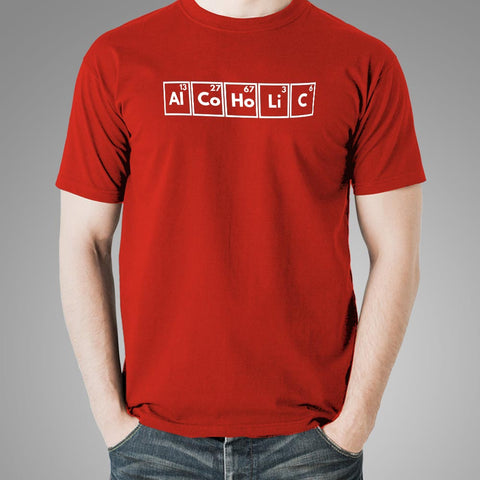 Alcoholic Periodic Table T-Shirt For Men Online India
