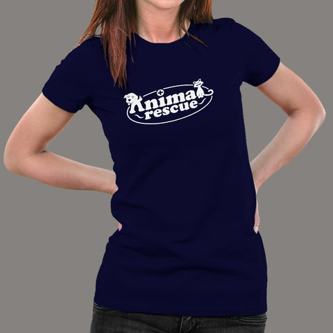 Animal Rescue T-Shirt For Women Online India