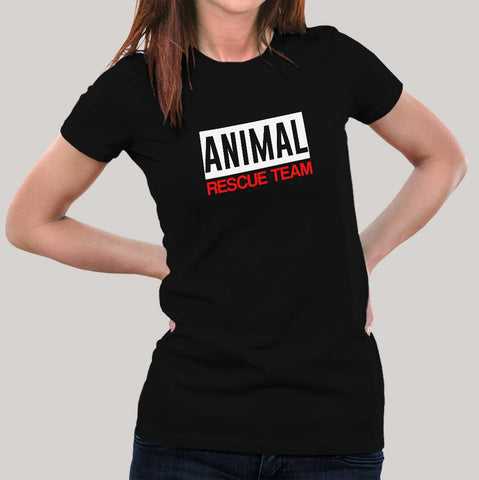 Animal Rescue Team T-Shirt For Women Online India
