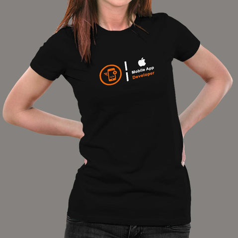 Apple Mobile App Developer Profession T-Shirt For Women Online India