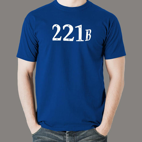 221 Baker Street London Address T-shirts for Men