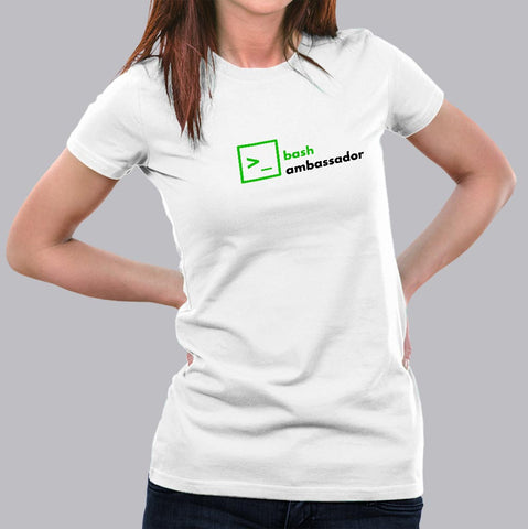 Bash Ambassador Women's Programmer T-Shirt India