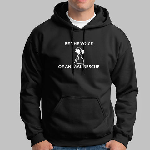 Be The Voice Of Animal Rescue Hoodies India
