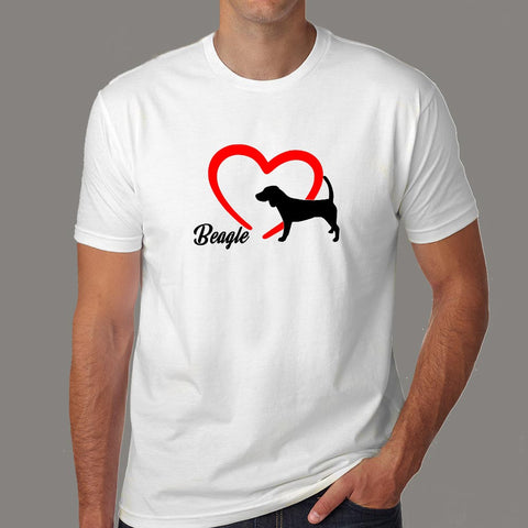 Beagle Love T-Shirt For Men Online India